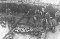 Extracting clay from an open pit in North Devon in the 1930s