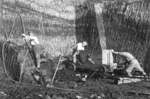 Extracting clay from an open pit in the 1950s - click here to see a larger version of this image
