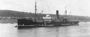 Falke loading clay from barges at Teignmouth in the 1920s